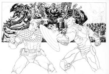 Marvel Box art in progress by Devilpig