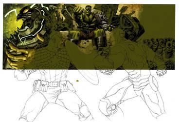 Marvel Box art in progress 2 by Devilpig