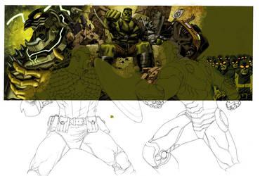 Marvel Box art in progress 3 by Devilpig