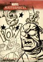 UpperDeck sketch card Hydra by Devilpig