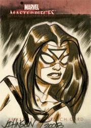 UD sketchcard Spiderwoman by Devilpig