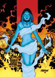 Liz Sherman Hellboy card by Devilpig