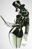 Zatanna convention sketch by Devilpig