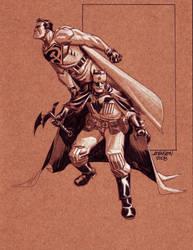 Superman Batmankoff con sketch by Devilpig
