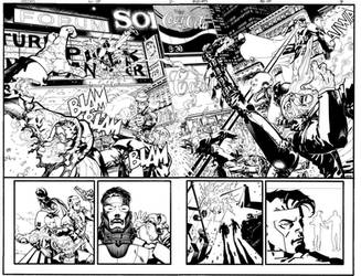 Wildcats double page spread by Devilpig