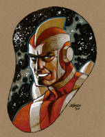 Adam Strange by Devilpig