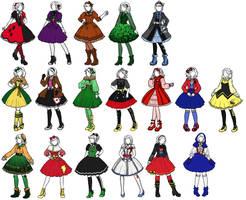 Superhero x Lolita designs 2 by sirenlovesyou