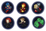 The Avengers -button- by sirenlovesyou