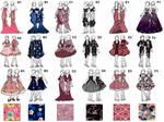 FIDM dresses by sirenlovesyou