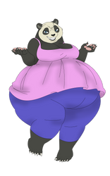 cutest panda EVAH by erboiler