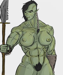 Orc girl by The-Drunken-Celt