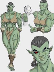 Orc girl 2 by The-Drunken-Celt
