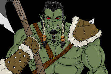Orc Axeman by The-Drunken-Celt