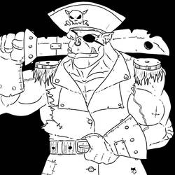 Ork Pirate Capt by The-Drunken-Celt
