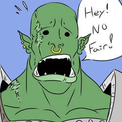 Orc Doodle by The-Drunken-Celt