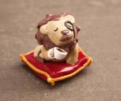 Lion with an elegant mustache by Debra-Marie