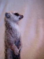 needle felted meerkat 2 by earfox