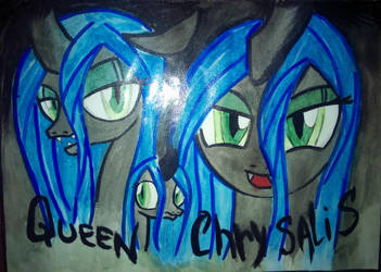 Queen Chrysalis (three in one) by NorthWolf1488