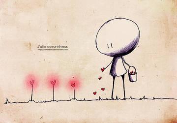 .J'ai le coeur reveur. by Nonnetta