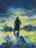 Wanderer Above The Mist by Toradh