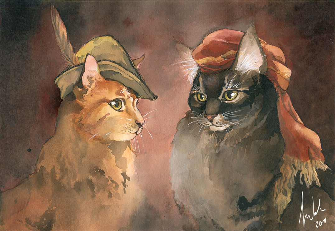 Renaissance Kitties by Toradh