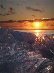 Iceworld at Dawn by wb-skinner