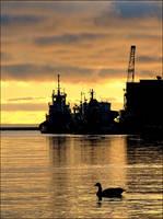 Dockyard Dawn by wb-skinner