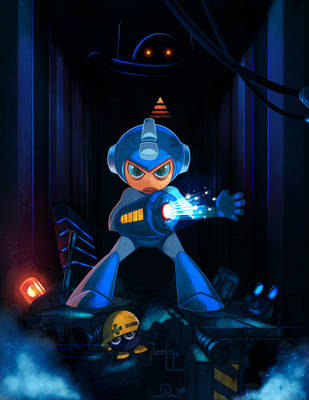 Mega man the Blue Avenger by iliasPatlis