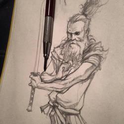Samurai sketch by iliasPatlis