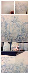 Blue sketch Progress by iliasPatlis