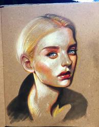 Nastya Kusakina portrait by iliasPatlis