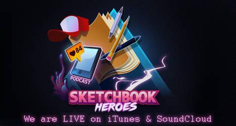 Sketchbook Heroes Podcast logo by iliasPatlis