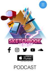 Sketchbook Heroes Podcast - Website by iliasPatlis