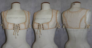 Tea dying top camisole bra steampunk style by AtelierSylpheCorsets