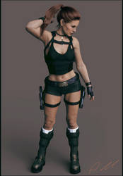 Tomb Raider Underworld jungle short outfit by ArtiMuller