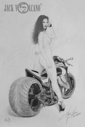 Nude Racer by JackVolcano