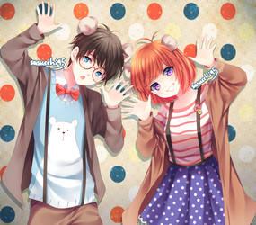 Rui and Hiyori by sasucchi95