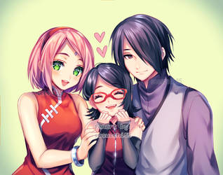 uchiha family + [speedpaint video] by sasucchi95