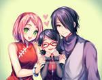 uchiha family + [speedpaint video] by sasucchi95
