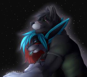 Midnight Cuddle by Luanas-Artbook