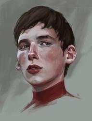 Portrait of the boy by MILMARI