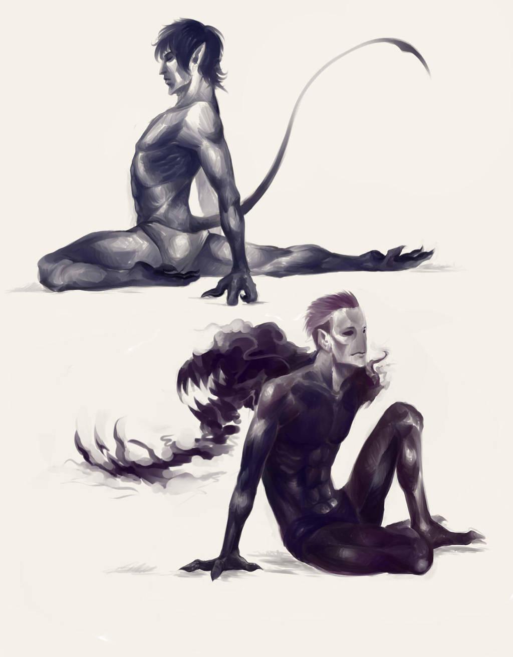 Nightcrawler and Abyss by ananovik