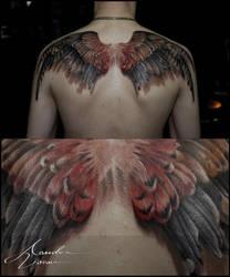 Oct - 2015 / Kestrel Wings by xandervoron