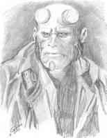 Hellboy Ron Perlman by tunnelbrat