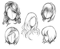 Manga hair reference sheet 1 - 20130112 by StyrbjornAndersson