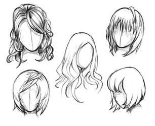 Manga hair reference sheet 1 - 20130112 by StyrbjornAndersson