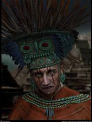 Aztec Priest by sofiavalecruz