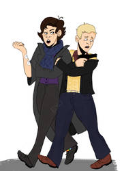 Improvement Spotlight! Sherlock and John by GalexArts