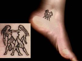 Gemini Tattoo by PandoraValo777