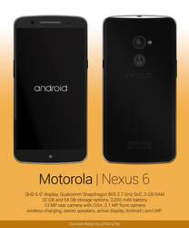 Motorola Nexus 6 Concept Design by teerox